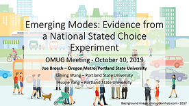 Emerging Modes:  Evidence from a National Stated Choice Experiment