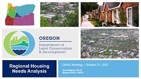 Regional Housing Needs Analysis