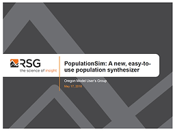 Population Sim:  A new, easy to use population synthesizer