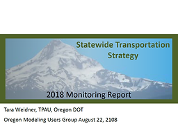Statewide Transportation System Monitoring