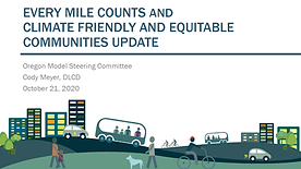 Every Mile Counts and Climate Friendly and Equitable Communities Update