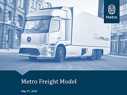 Metro Freight Model Update