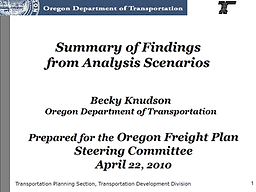 State Freight Plan Modeling