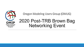 Handouts and Info from 2020 Post-TRB BrownBag Discussion