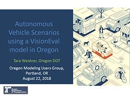 Autonomous Vehicle Scenarios Using a VisionEval Model in Oregon
