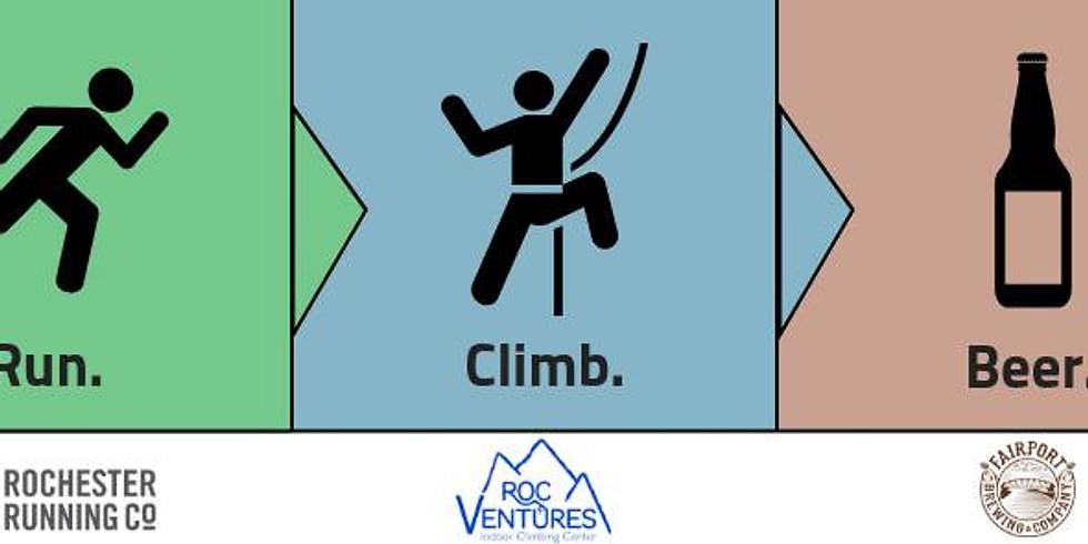 Run. Climb. Beer.