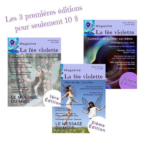 Magazine ésotérique La fée violette - Édition 1, 2 et 3