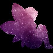 fée violette assise