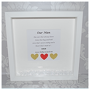 Our Nan Glitter Frame