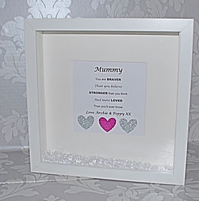 Mummy diamante Frame
