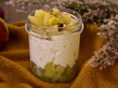 Mléčná rýže s jablečným kompotem