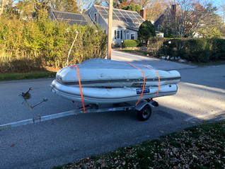End of the season dinghy haulout for some of our customers