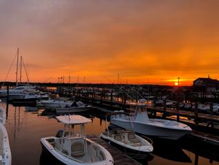 Beautiful Padanaram Harbor Sunset