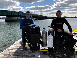 Divers Nick and Anthony (left to right)