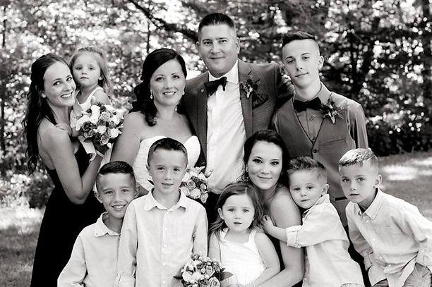 Chris Burton and his family