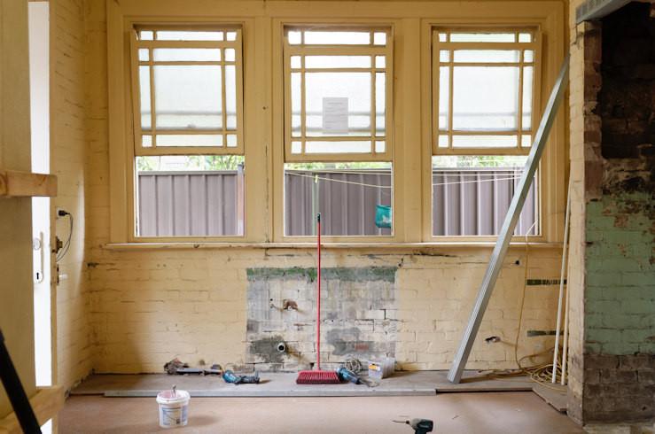 Room under renovation