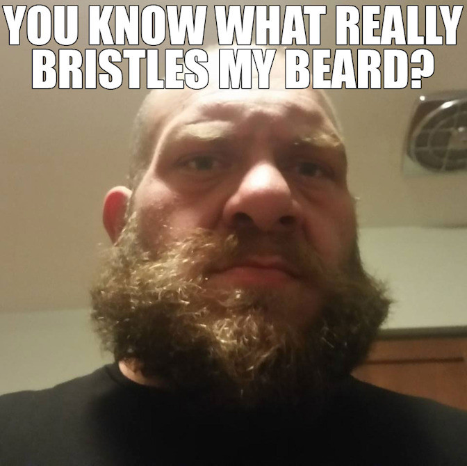 Man with Bristly Beard