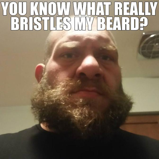 Man with bristly beard