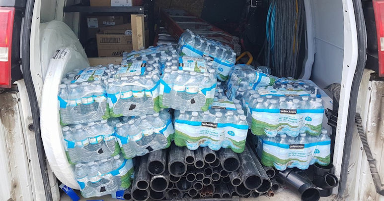 DCL donates water bottles