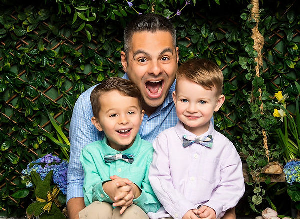 Frank Emanuele with his two sons