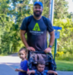 Jeremy McCall and his children