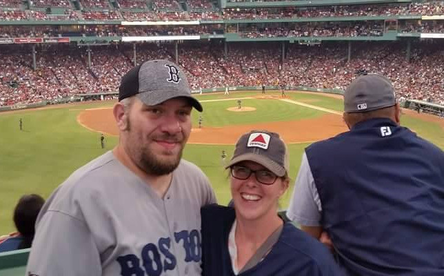 Husband and wife at Fenway