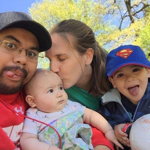 Sav Neth with his family