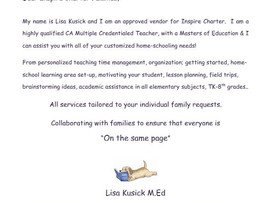 Tutoring (too much Inspire verbiage, contact for updated flyer) - N. San Diego, CA and Virtual