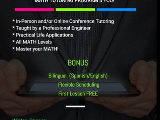 Math Tutoring - San Diego, CA (no website, nothing on web search, Paige to contact to update post)
