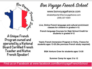 Bon Voyage French School (site can't be reached, contact for updated information)