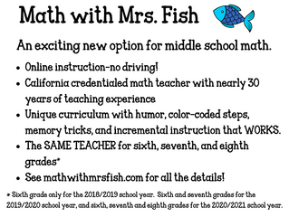 Middle School Math - Virtual