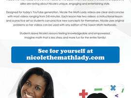 Nicole the Math Lady brings joy to learning Saxon Math - Online