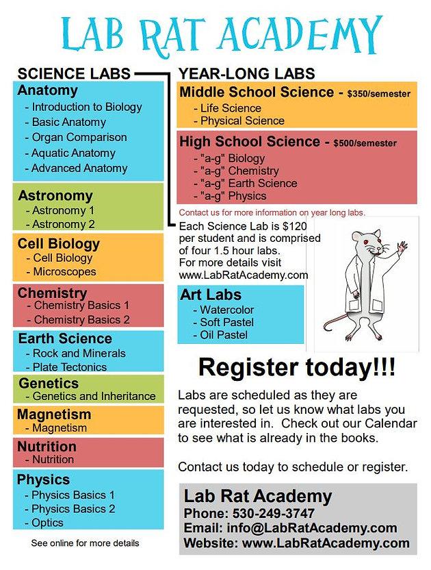 Science Classes - Monterey Bay, Sacramento/Yolo - CA