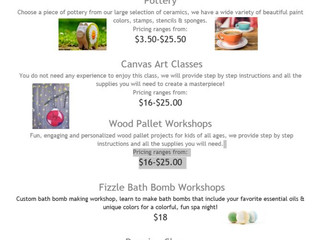 Craft Workshops - Murrieta, CA (website is in error, contact to get updated information)