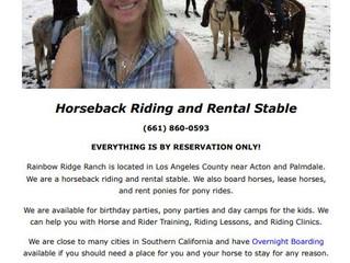 Horseback Riding - LA County, CA