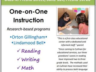 Cullinan Education Center, One-on-One Instruction- Fresno, CA
