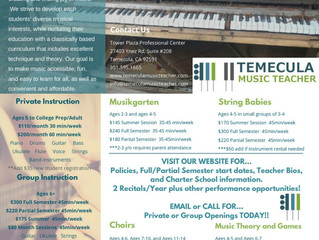 Group/Private Music Lessons - Temecula, CA
