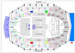 Bestuhlungsplan; CAD; Vectorworks; Schleyerhalle; NOTP