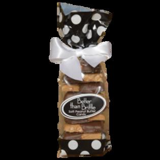 Dark Chocolate Dipped Gourmet Soft Peanut Brittle 12 oz. Bag