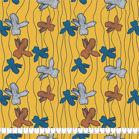 Floral Lines Fabric