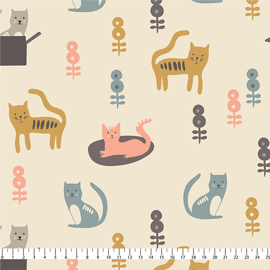 Cat's Life Fabric