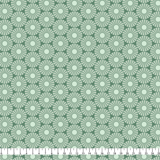 Here Comes the Sun Green Fabric