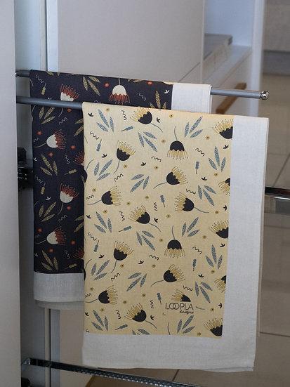Funky Floral Printed Tea Towel Bundle