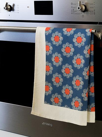Daisy Scribbles Printed Tea Towel