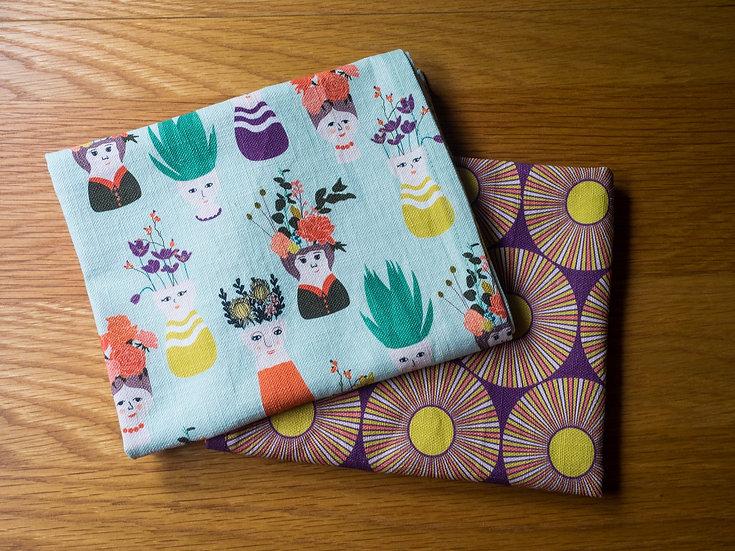 Planthood Bundle Handmade Tea Towel Set - Purple
