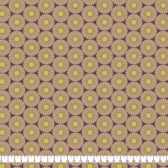 Here Comes the Sun Purple Fabric