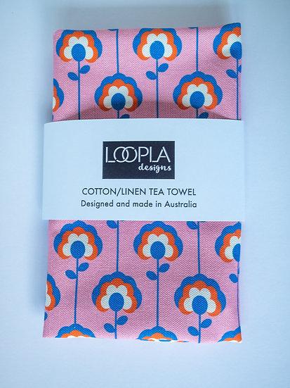 Daisy Lines Handmade Tea Towel