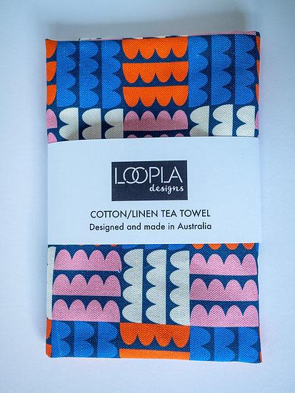 Funky Blobalina Handmade Tea Towel