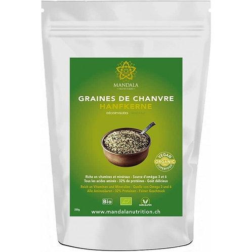 Graines de chanvre décortiquées BIO de France
