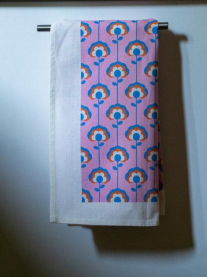 Daisy Lines Printed Tea Towel